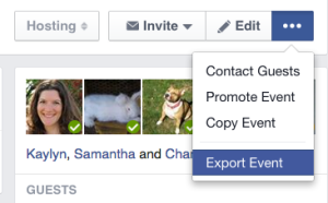 Export a Facebook Event